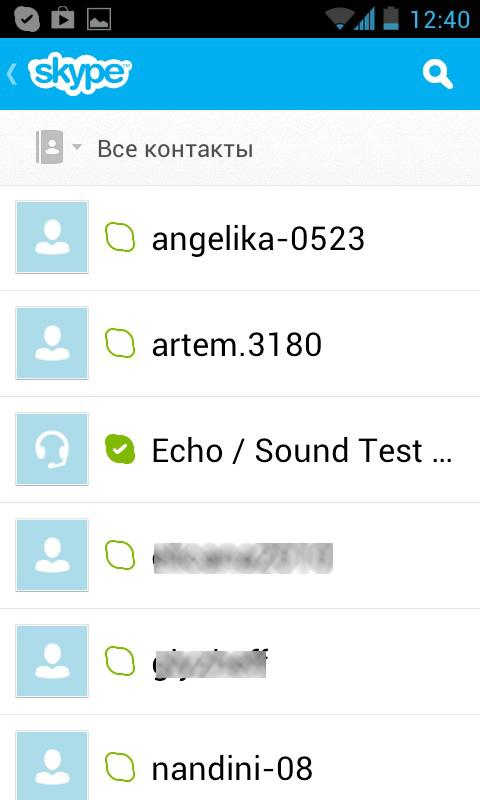 Skype - программа для Android