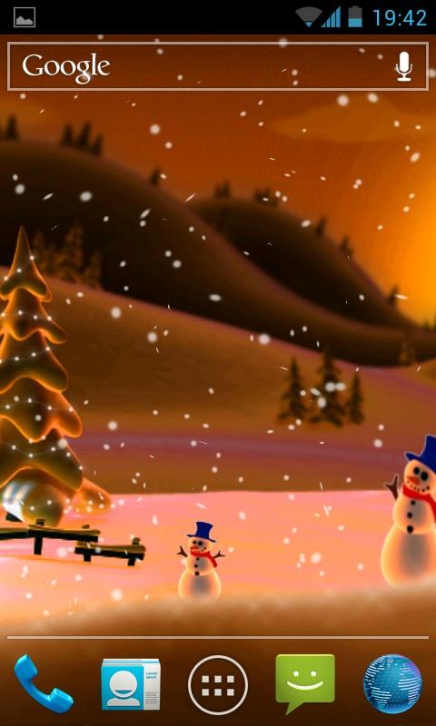 Winter Snow Cartoon LWP - анимированные обои для Samsung Galaxy SIV