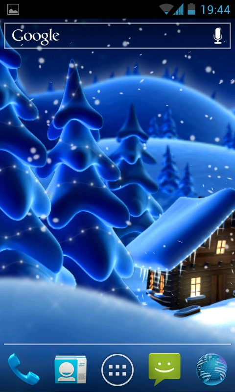 Winter Snow Cartoon LWP - живые обои для Samsung Galaxy SIV