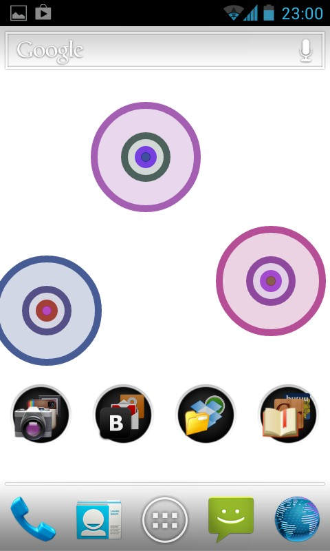 Concentric Circles Live Wallpaper - интерактивные обои для samsung Galaxy S4