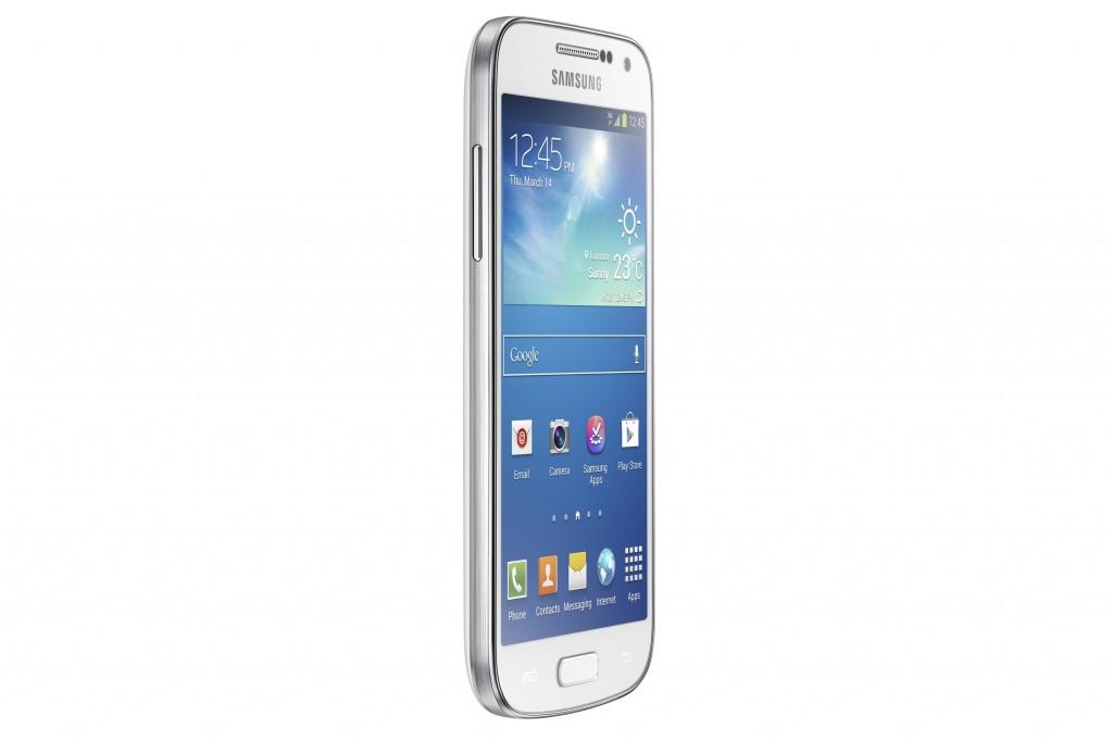 Samsung Galaxy S4 Mini GT-I9190, белый - вид сбоку