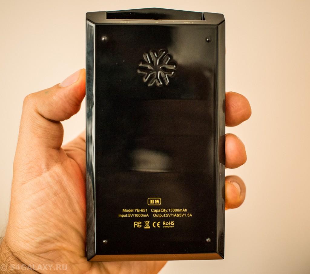 Глянцевый корпус батареи Yoobao YB-651