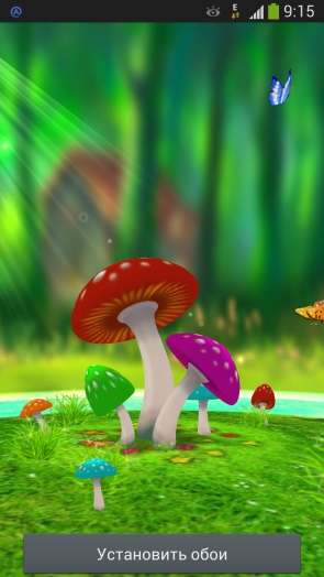 3D Mushrooms Live Wallpaper - обои для Galaxy S4
