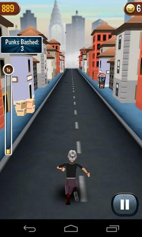 Angry Gran Run - игра на Samsung Galaxy SIV