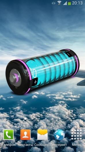 3D Design Battery Widget - HD виджет батареи для Галакси С4