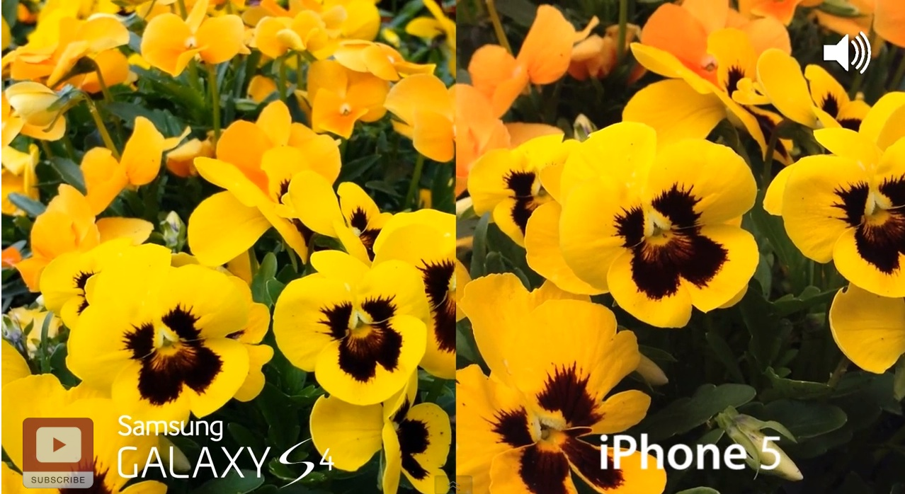 Samsung Galaxy s4 vs iPhone 5 - сравнение камер