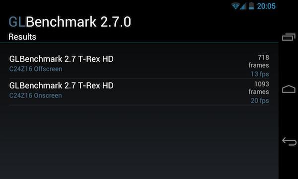 Тест графики GLBenchmark 2.7 на LG Nexus 4