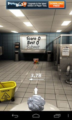 Paper Toss - игра на смартфоны Android