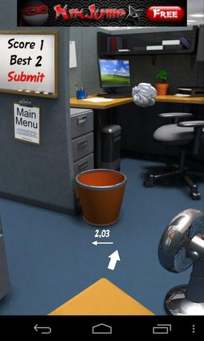 Paper Toss - игра Галакси С4