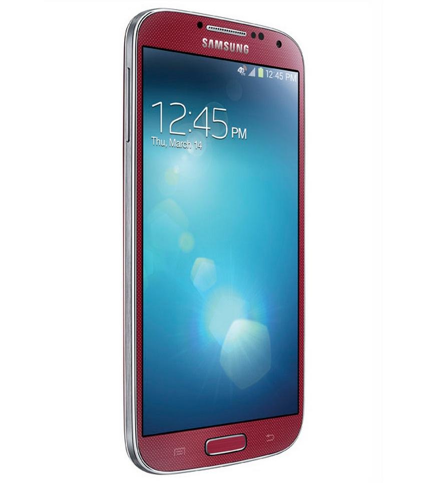 Samsung Galaxy S4 в красном цвете - фото
