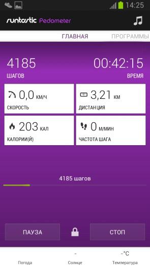 Тестируем Runtastic и S Health: Galaxy S3 и S4 - замер 4
