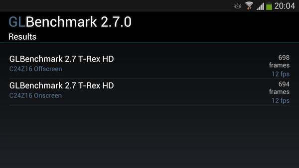 Samsung Galaxy S4 в бенчмарке GLBenchmark 2.7