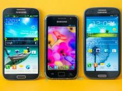 Samsung Galaxy S I9000, S3 и S4