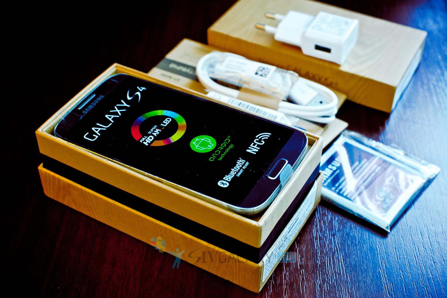 Комплект поставки Samsung Galaxy S4