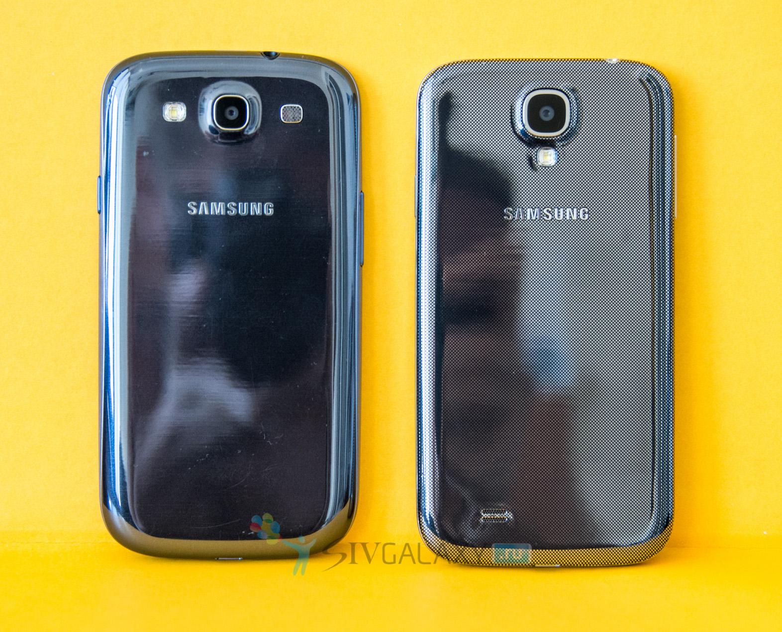 Фото внешнего вида Samsung Galaxy S4 и S3