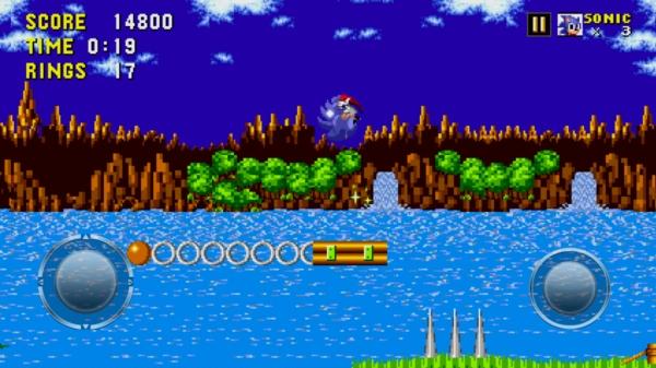 Игра Sonic The Hedgehog на Samsung Galaxy S4 - на реке