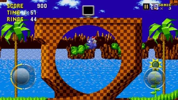 Игра Sonic The Hedgehog на Samsung Galaxy S4 - бегаем по кругу