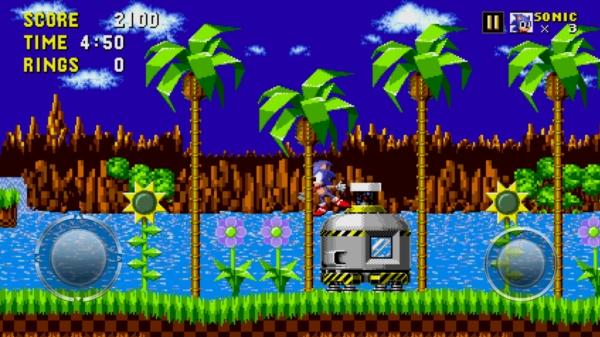 Игра Sonic The Hedgehog на Samsung Galaxy S4 - первый босс побежден