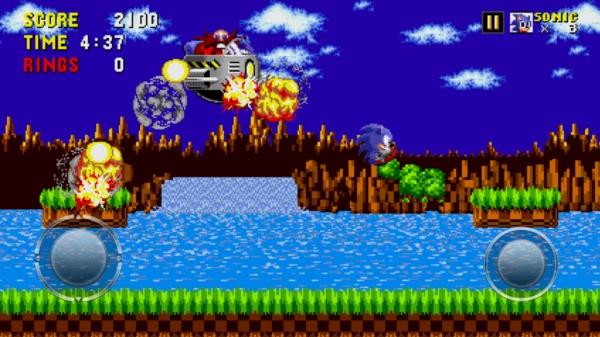 Игра Sonic The Hedgehog на Андрод - сражаемся с боссом