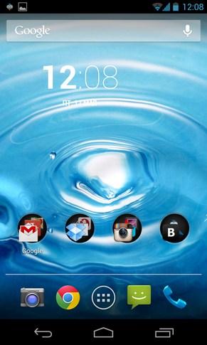 Water Pro Live Wallpaper - живые обои на Samsung Galaxy S4
