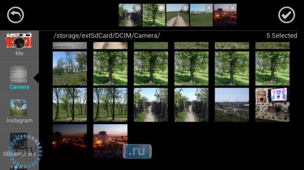 Галерея в CameraAce