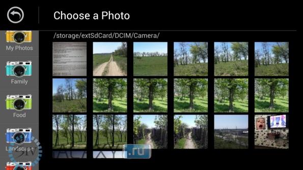 Каталоги фото в приложении Camera Ace