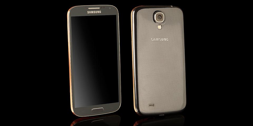 Корпус в розовом золоте смартфона Samsung Galaxy S4