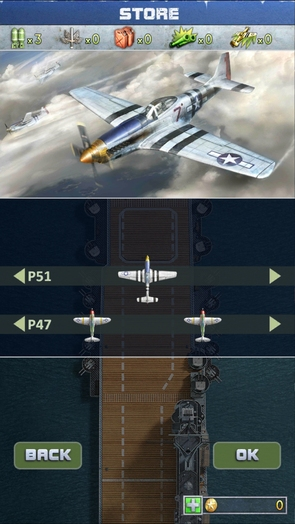 Самолеты в игре iFighter 2: The Pacific 1942