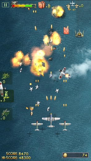 Геймплей iFighter 2: The Pacific 1942 - скролл-шутер для Galaxy S4