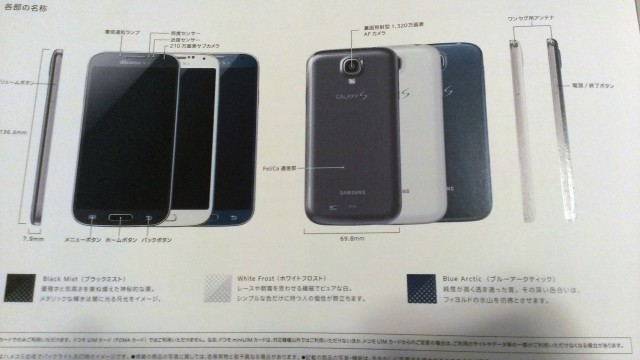 Samsung Galaxy S4 в синем цвете