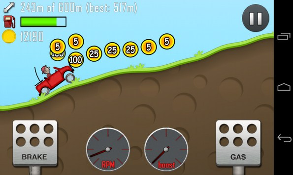 Hill Climb Racing - игра на Samsung Galaxy S4