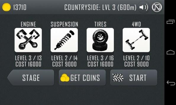 Hill Climb Racing  - игра на Галакси С4