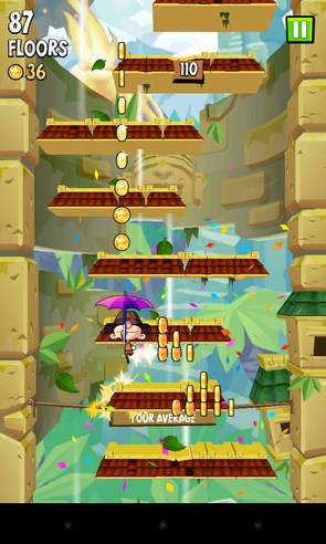 Icy Tower 2 Temple Jump - игра-аркада на Android