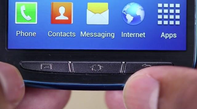 Samsung Galaxy S4 Active Blue Arctic - нижняя панель