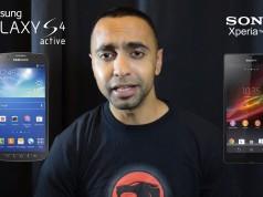 Samsung Galaxy S4 Active и Sony Xperia Z