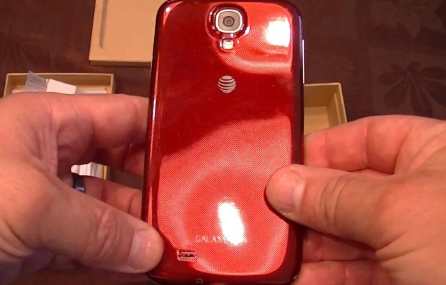 Samsung Galaxy S4 Red Aurora - видео распаковки