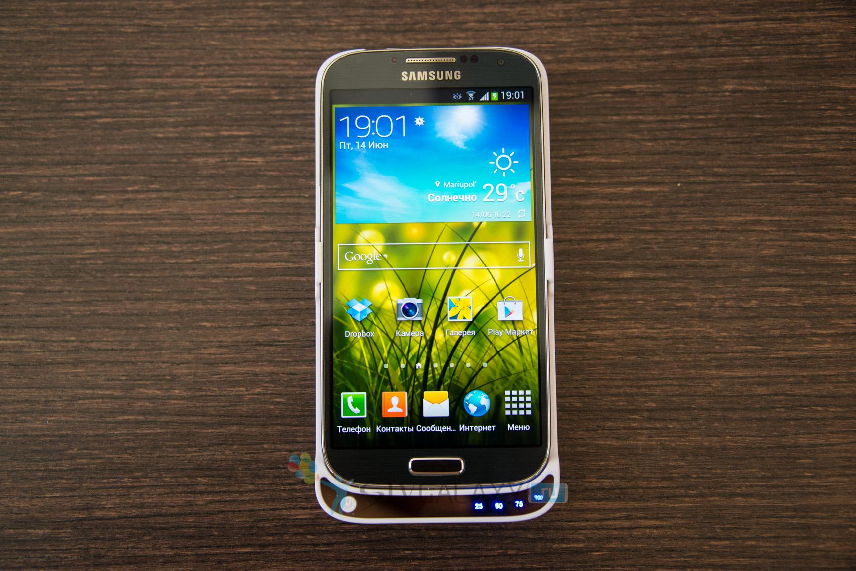 Кейс с аккумулятором для Samsung Galaxy S4