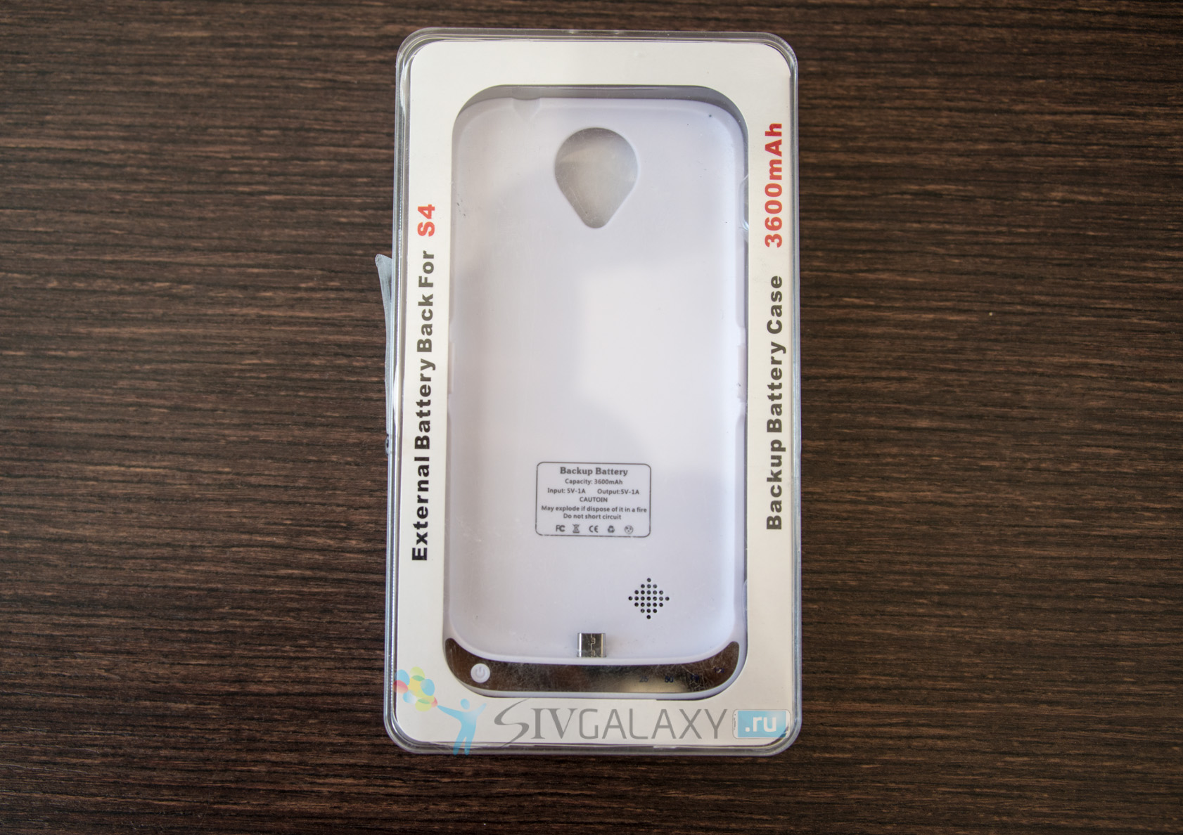 Кейс с батареей на 3600 мАч для Samsung Galaxy S4