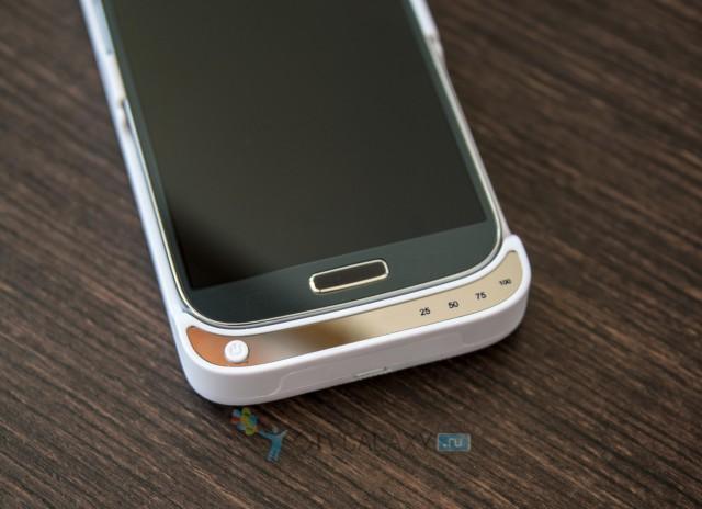 Кейс с аккумулятором для Samsung Galaxy S4 - нижняя панель