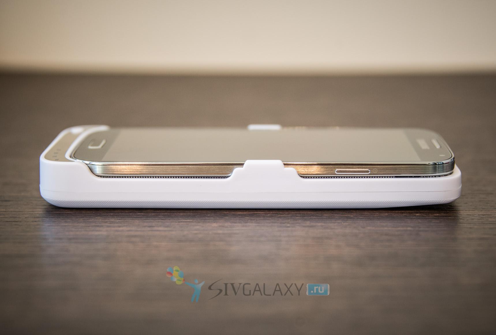 Кейс с аккумулятором для Samsung Galaxy S4 - правая грань
