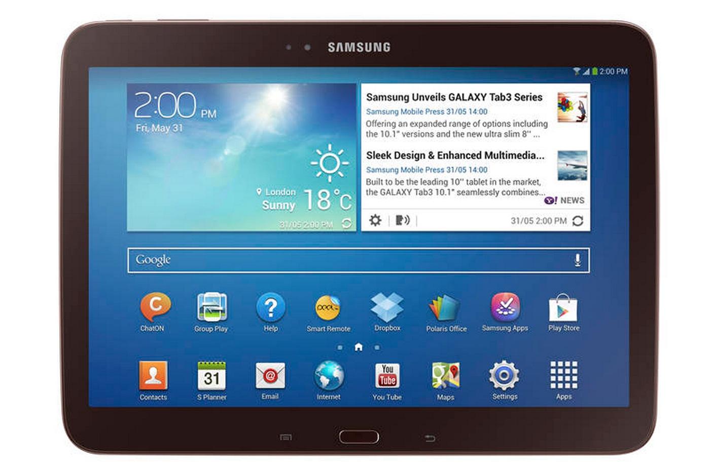 Samsung Galaxy Tab 3 10.1 - внешний вид