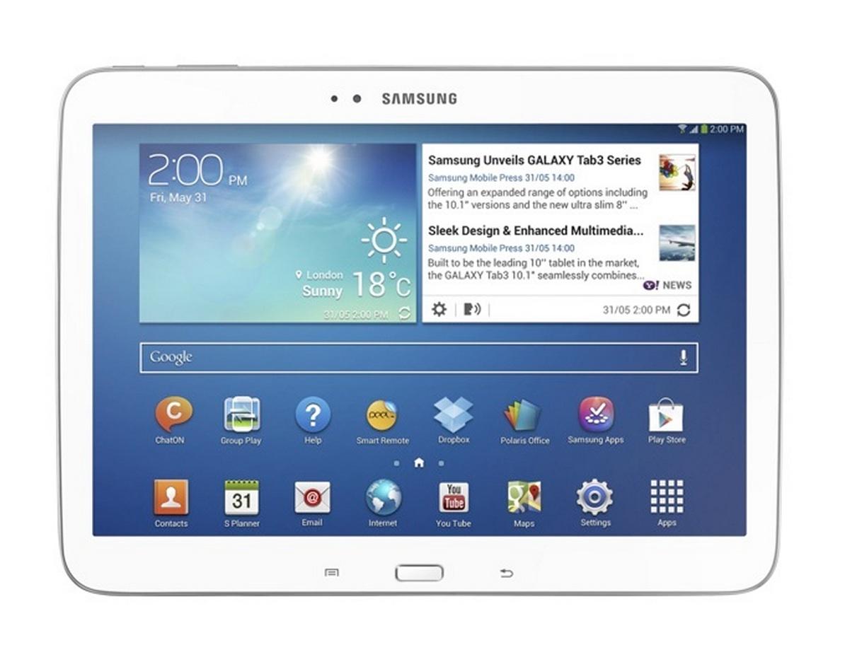 Samsung Galaxy Tab 3 10.1 - белого цвета