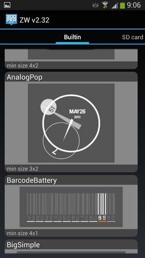 Zooper Widget Pro - виджеты на рабочий стол Samsung Galaxy S4