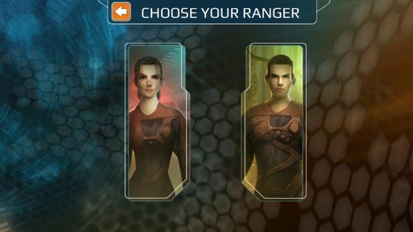 Игра After Earth для Samsung Galaxy S4 - выбор персонажа