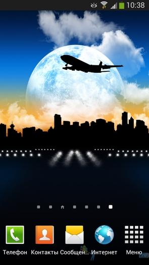 Aircraft Pro Live Wallpaper - живые обои с городами для Галакси С4