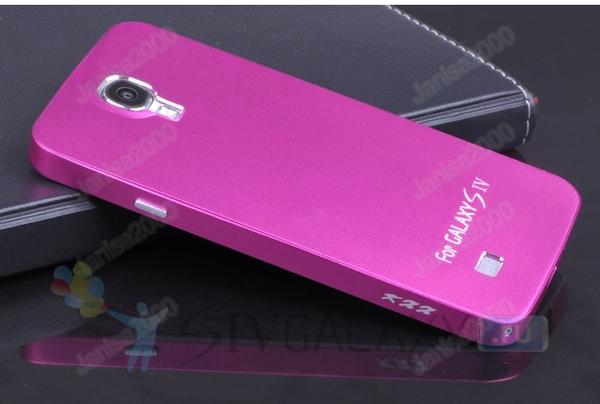 Чехол из алюминия для Samsung Galaxy S4 - розовый
