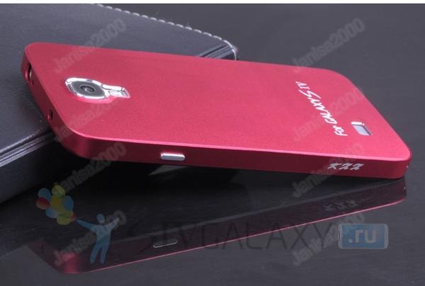 Чехол из алюминия для Samsung Galaxy S4 - красный