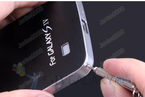Стильный кейс из алюминия для Galaxy S4 - сборка