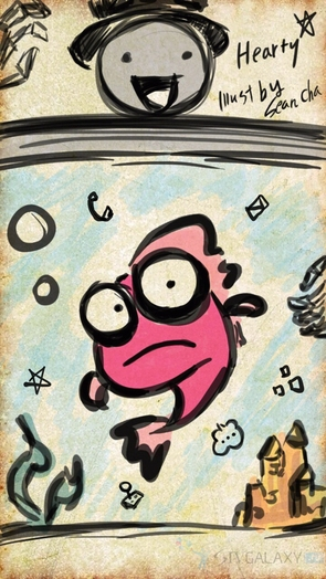 Buzz Launcher - рисованный с рыбкой
