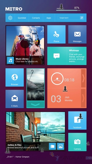 Buzz Launcher - Windows Metro тема